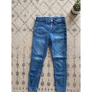 Button fly jeggings